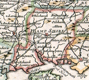 Map Of Uk Hampshire.Morden S England Hampshire Road Map