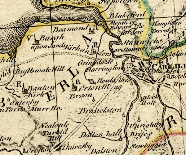 Bowen and Kitchin 1760, places identified