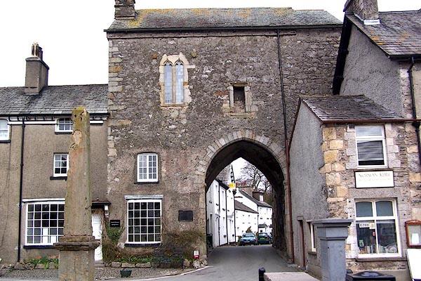 Old Cumbria Gazetteer Cartmel Priory Gatehouse Cartmel