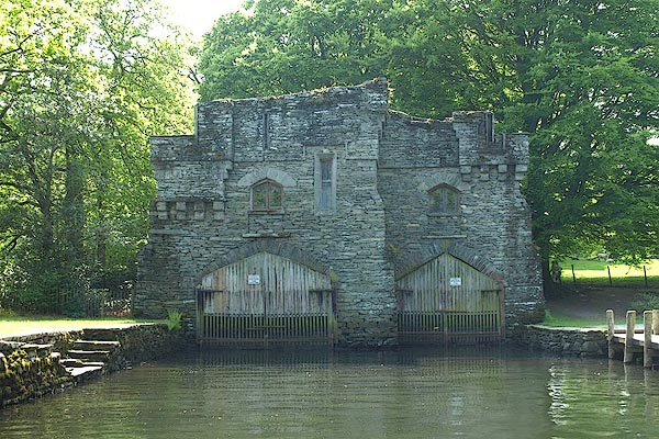 Old Cumbria Gazetteer Wray Castle Boat House Claife